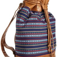 Volcom Juniors Beach Bar Cinch Bag, Brown, One Size