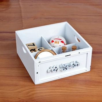 Home Wooden Storage Box Multi-functioned Cosmetic Jewelry Accessory Box [6282633926]