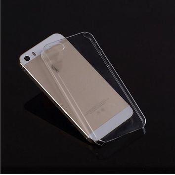 Ultra Thin Hard Plastic Case For iPhone 5 5s 6 6s 6 plus/5c/4/4s PC Transparent Clear Crystal Ultra Thin Glossy Snap Case Cover