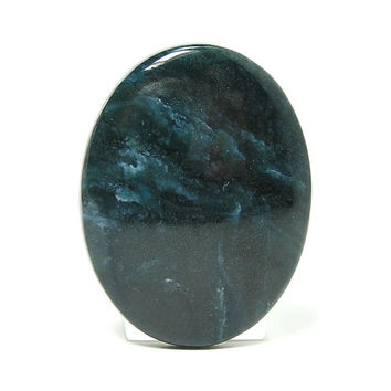 "Blue Dianite Oval Rare Stone Calibrated Cabochon Siberian Blue ""Jade"""