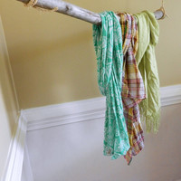 Pre-order / Floating clothes rod / Coat Rack / natural Tree Branch Coat Rack / hanging clothes rod / garment rack / wood and rope