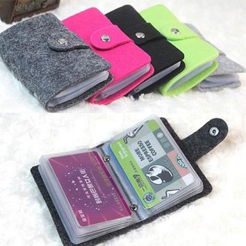 2017 Business Credit Card Holder Fashion 24 Bits Useful PU Leather Buckle Cards Holders Organizer porte carte bancaire