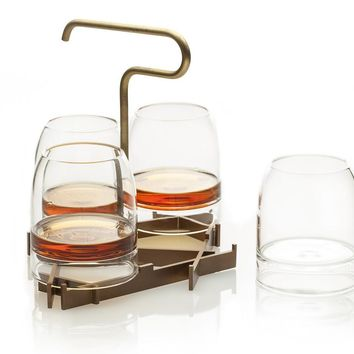 Rare Cocktail Glasses & Presenter Set