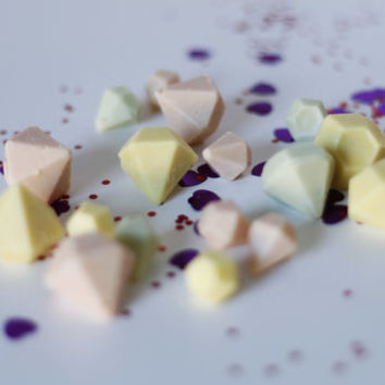 Pastel Coloured White Chocolate Gems