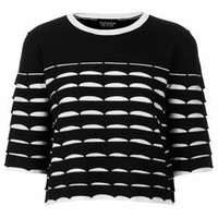 Textured Stripe Tee - Black