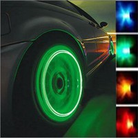 Car Wheel Tire Valve Cap Flash Colorful Light Lamp