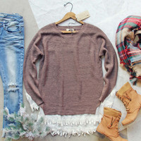Skyline Lace Sweater in Timber