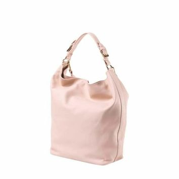 LAURA DI MAGGIO Soft Pink Leather Shoulder Bag