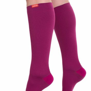 Vim&Vigr Women's Compression Socks Hot Pink Ruby Knee High Fashion Accessories