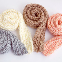 knitted BJD DOLL SCARVES for msd, sd - 15+ colours - 50cm (20'') long