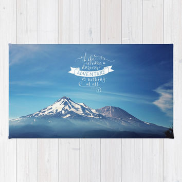 daring adventure Rug by Sylvia Cook Photography