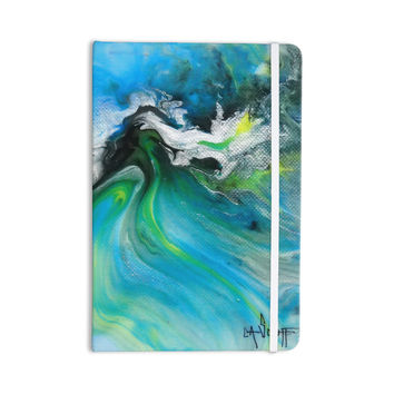 "Carol Schiff ""Turquoise And Green Abstract"" Blue Teal Everything Notebook"