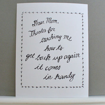 mothers day print - dear mom - poster mom card gift