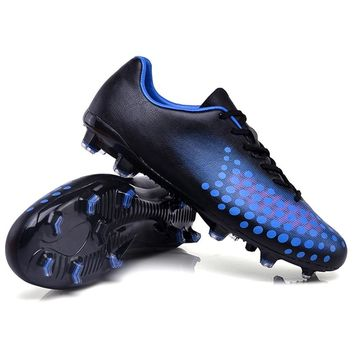 Sufei Men Soccer Shoes FG Football Boots Superfly Cool Kids Unisex Soccer Cleats Sport Non-slip Training Shoes