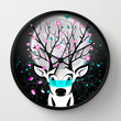 Roots To Grow and Wings To Fly (Sakura Deer) Wall Clock by soaring anchor designs ⚓