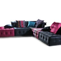 Versus Chloe - Modern Fabric Sectional Sofa