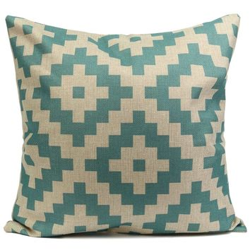 Turquoise Dream 18 x 18 Pillow Cover