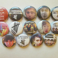5 Seconds Of Summer 5 SOS Pinback Button Badge Pin