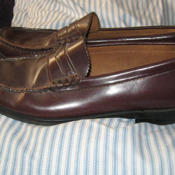 vintage Men's DEXTER Hand Sewn cordovan Penny Loafer Dress Shoes sz 10 1/2 b