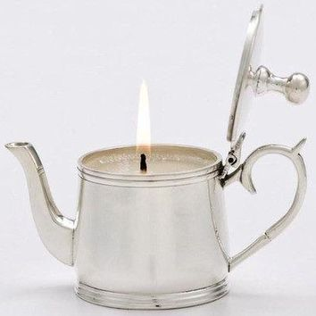 """""""Stout"""" Silver Silver Plate Teapot Candle - Only 1 Left!"""