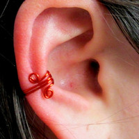 Red Spiral Ear Wrap