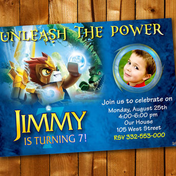 Legends of Chima Personalized Birthday Party Invitation, Birthday Invitation for little boy and little girl