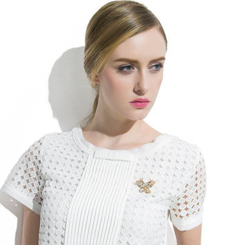 Chain Stylish Butterfly Luxury Crystal Accessory Sweater [10427405524]