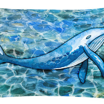 Humpback Whale Canvas Fabric Decorative Pillow BB5353PW1216