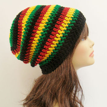 Free Crochet Pattern For Rasta Hat : FREE SHIPPING - UNISEX Slouchy Crochet from Tzigns ...
