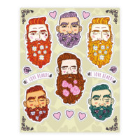 BOYS WITH BEARDS SHEET STICKER
