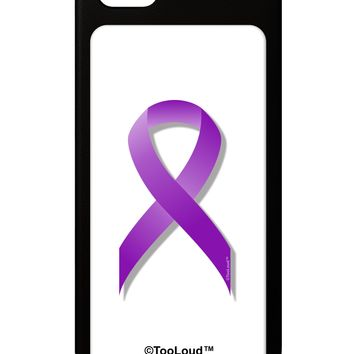 Epilepsy Awareness Ribbon - Purple iPhone 5 / 5S Grip Case  by TooLoud