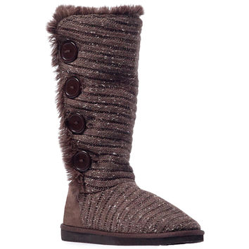 Muk Luks Malena Women's Crotchet Knit Sweater Winter Boots
