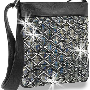 + Iridescent Layered Crossbody Handbag