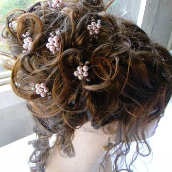 flower hair pins prom hair prom jewelry bride bridesmaid gift