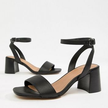 ASOS DESIGN Wide Fit Tyrell Heeled Sandals at asos.com