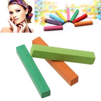 "Hair Color Chalk Mixed Color Temporary Washable 65.0mm(2 4/8"") x 10.0mm( 3/8""), 6 PCs"