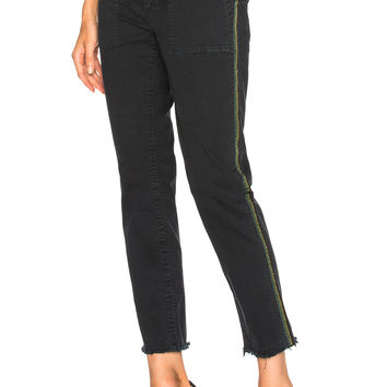 NILI LOTAN Jenna Pant with Tape in Dark Navy | FWRD