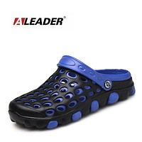 ALEADER Casual Men Garden Croc Clogs Soft Walking Beach