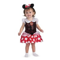 Disney Minnie Mouse Costume - Baby (White/Red)