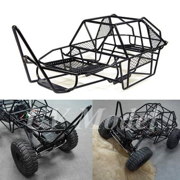 1/10 Scale RC Rock Car Xtra Speed V Steel Roll Cage Frame Body Black Chassis Axial SCX10 RC Crawler Climbing Truck Parts