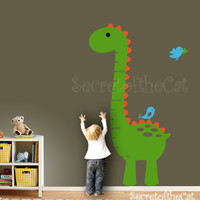 Wall Decal - Kids Growth Chart - Dinosaur Growth Chart Decal - Nursery Decal - Growth Chart Nursery