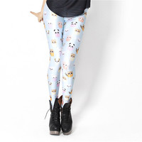 Space Print Pants Candy Color Kawaii Blue Leggings Woman Legging Digital Printing Fitness Leggins Sports Fitness Women Gym-in Leggings from Apparel & Accessories on Aliexpress.com | Alibaba Group