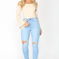 Baby Love Skinny Jeans - Light Blue Wash