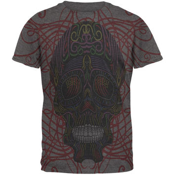 Cinco De Mayo Skull Ribbons Mens Soft T Shirt