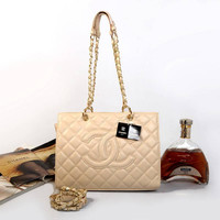 CHANEL Women Fashion Shopping Leather Satchel Shoulder Bag Crossbody