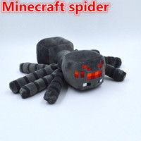 Minecraft Spider Plush Toys Good Quality Dolls With Tags 14cm Spider Stuffed Animals Bat Cow Ghast Christmas Gifts for Kids Minecraft Player