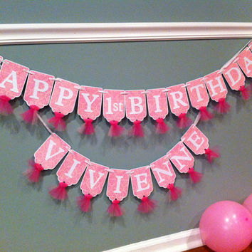 best pink happy birthday banner products on wanelo