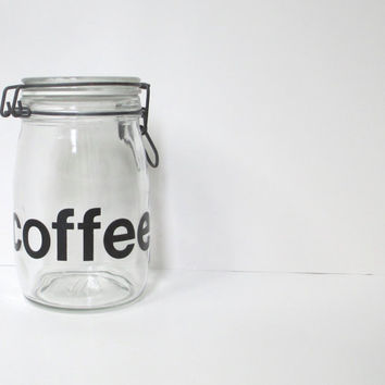 Vintage Coffee Canister, Triomphe Jar Container