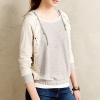Daisy Lace Hoodie by Anthropologie Grey