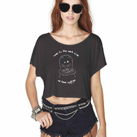 Come To The Dark Side We Have Cookies 3 868 Crop Shirt , Custom Crop Shirt , Woman Crop Shirt